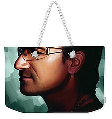 Bono U2 Artwork 1 Weekender Tote Bag by Sheraz A