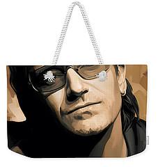 Bono U2 Artwork 2 Weekender Tote Bag by Sheraz A