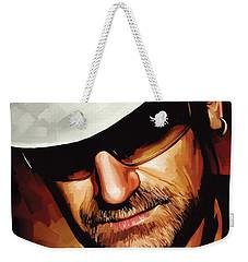 Bono U2 Artwork 3 Weekender Tote Bag by Sheraz A