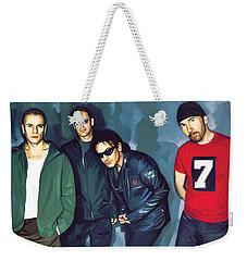 Bono U2 Artwork 5 Weekender Tote Bag by Sheraz A
