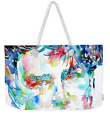 Bono Watercolor Portrait.1 Weekender Tote Bag by Fabrizio Cassetta
