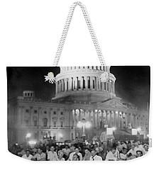 Bonus Army Sleeps At Capitol Weekender Tote Bag by Underwood Archives