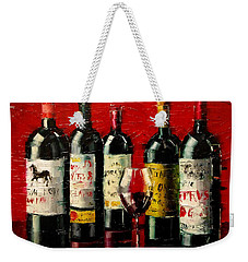 Bordeaux Collection Weekender Tote Bag by Mona Edulesco