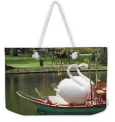 Boston Swan Boats Weekender Tote Bag by Barbara McDevitt