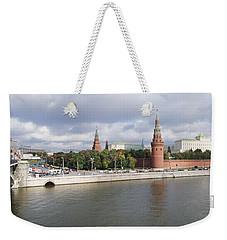 Bridge Across A River, Bolshoy Kamenny Weekender Tote Bag by Panoramic Images