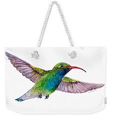 Broad Billed Hummingbird Weekender Tote Bag by Amy Kirkpatrick