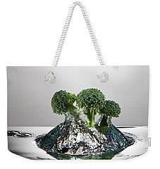 Broccoli Freshsplash Weekender Tote Bag by Steve Gadomski