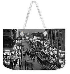 Bronx Fordham Road At Night Weekender Tote Bag by Underwood Archives