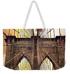 Brooklyn Bridge Sunrise Weekender Tote Bag by Jessica Jenney