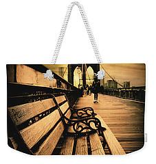 Brooklyn Bridge Sunset Weekender Tote Bag by Jessica Jenney