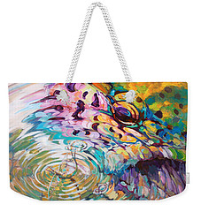 Brown Trout And Mayfly - Abstract Fly Fishing Art  Weekender Tote Bag by Savlen Art