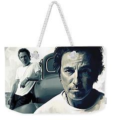 Bruce Springsteen The Boss Artwork 1 Weekender Tote Bag by Sheraz A