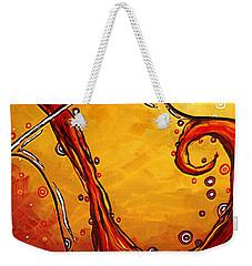 Bubbling Joy Original Madart Painting Weekender Tote Bag by Megan Duncanson