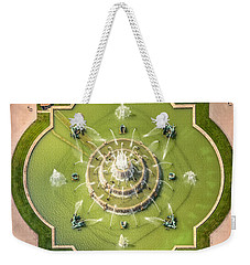 Buckingham Fountain From Above Weekender Tote Bag by Adam Romanowicz