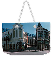 Buildings Along The Road, Rodeo Drive Weekender Tote Bag by Panoramic Images