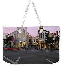 Buildings In A City, Rodeo Drive Weekender Tote Bag by Panoramic Images