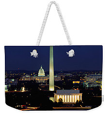 Buildings Lit Up At Night, Washington Weekender Tote Bag by Panoramic Images