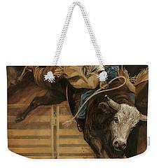 Bull Riding 1 Weekender Tote Bag by Don  Langeneckert