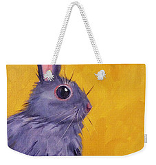 Bunny Weekender Tote Bag by Nancy Merkle