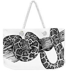 Burmese Python Weekender Tote Bag by Roger Hall
