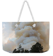 Weekender Tote Bag featuring the photograph Burnout Near Song Dog Road by Bill Gabbert
