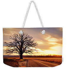 Burr Oak Silhouette Weekender Tote Bag by Cricket Hackmann