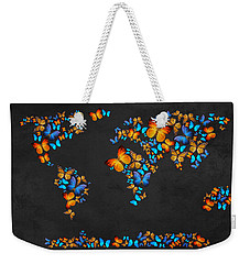 Butterfly Map Weekender Tote Bag by Mark Ashkenazi