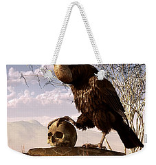 Buzzard With A Skull Weekender Tote Bag by Daniel Eskridge