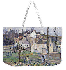 Cabbage Patch Near The Village Weekender Tote Bag by Camille Pissarro
