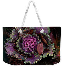 Cabbage With Butterfly Nebula Weekender Tote Bag by Panoramic Images