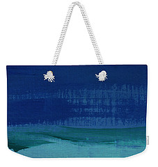 Calm Waters- Abstract Landscape Painting Weekender Tote Bag by Linda Woods