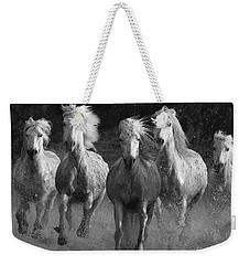 Camargue Horses Running Weekender Tote Bag by Carol Walker