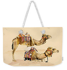 Camels From Petra Weekender Tote Bag by Alison Cooper
