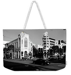 Car Moving On The Street, Rodeo Drive Weekender Tote Bag by Panoramic Images