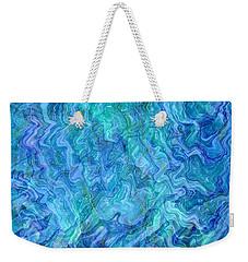 Caribbean Blue Abstract Weekender Tote Bag by Carol Groenen