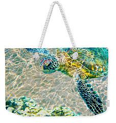 Beautiful Sea Turtle Weekender Tote Bag by Jon Neidert
