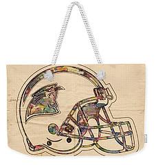 Carolina Panthers Logo Art Weekender Tote Bag by Florian Rodarte