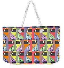 Cars Abstract  Weekender Tote Bag by Mark Ashkenazi