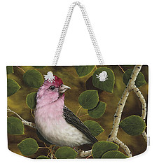 Cassins Finch Weekender Tote Bag by Rick Bainbridge