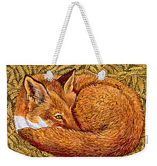 Cat Napping Weekender Tote Bag by Ditz