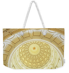 Ceiling Of The Dome Of The Texas State Weekender Tote Bag by Panoramic Images