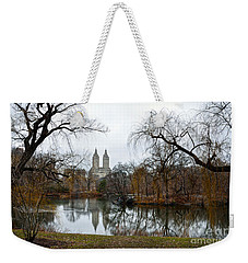 Central Park And San Remo Building In The Background Weekender Tote Bag by RicardMN Photography