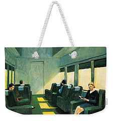 Chair Car Weekender Tote Bag by Edward Hopper