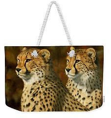 Cheetah Brothers Weekender Tote Bag by David Stribbling