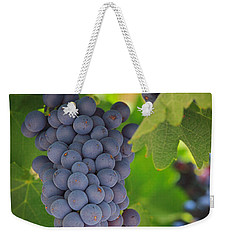 Chelan Blue Grapes Weekender Tote Bag by Inge Johnsson