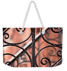Chelsea Wrought Iron Abstract Weekender Tote Bag by Rona Black