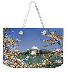 Cherry Blossom With Memorial Weekender Tote Bag by Panoramic Images