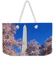 Cherry Blossoms Washington Monument Weekender Tote Bag by Panoramic Images