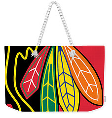 Chicago Blackhawks Weekender Tote Bag by Tony Rubino