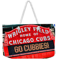 Chicago Cubs Wrigley Field Weekender Tote Bag by Christopher Arndt